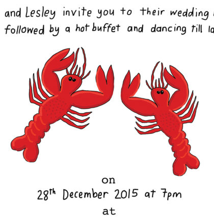 Lobster Invitations